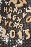 新年2015年曲奇饼 免版税库存图片