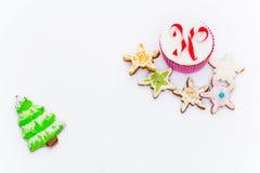 新年杯形蛋糕 免版税图库摄影