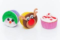 新年杯形蛋糕 库存图片