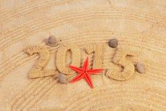 新年标志沙子 免版税库存照片