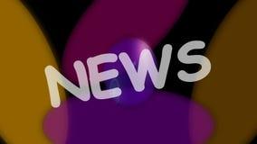 新闻介绍标题、生气蓬勃的横幅与五颜六色的盘和白色标题 向量例证