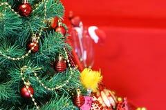 新年树装饰玻璃 库存图片