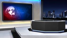 新闻演播室99C3 (推挤) 向量例证