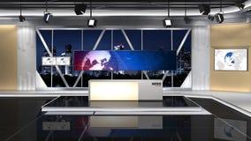 新闻演播室101C3 (推挤) 向量例证
