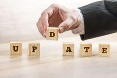 更新系统的企业或教育概念,个人kno 免版税库存图片