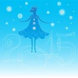 新年的山羊标志 图库摄影