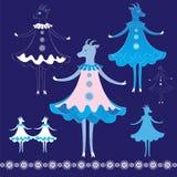 新年的山羊标志 免版税库存图片