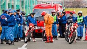 新年的火回顾神奈川,日本 免版税图库摄影
