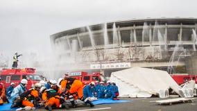 新年的火回顾神奈川,日本 库存照片
