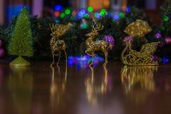 新年的鹿 免版税库存图片