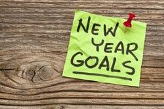 新年目标 免版税库存照片