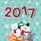 新年2017年礼物传染媒介 免版税库存照片