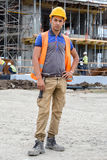 新建筑工人 库存图片