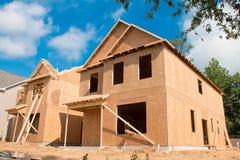 新建筑的房子 免版税库存照片
