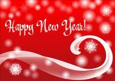 新年红色背景 免版税库存图片