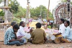 新闻纪录片的图象 社论 寺庙节日印度 库存图片