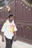 新闻纪录片的图象 社论 寺庙节日印度 免版税图库摄影