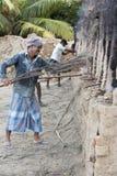 新闻纪录片的社论手工制造砖在印度 免版税库存图片