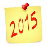 新年纸笔记 免版税库存图片