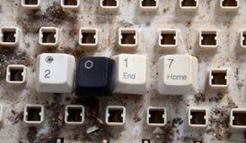 新年2017编号与肮脏的键盘按钮 库存图片