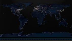 新闻背景世界地图动画 皇族释放例证