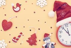 新年背景装饰 手工制造的设计 免版税库存图片