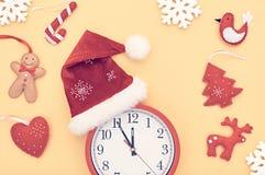 新年背景装饰 手工制造的设计 免版税库存照片