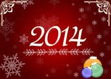 新年2014年背景 库存图片