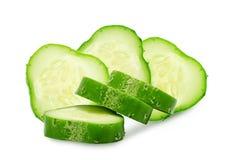 新绿色切片黄瓜 免版税库存照片