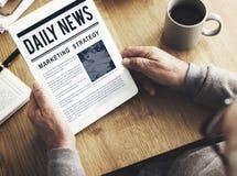 新闻营业通讯营销概念 免版税库存图片