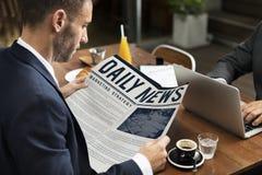 新闻营业通讯营销概念 库存照片
