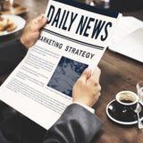 新闻营业通讯营销概念 免版税库存照片