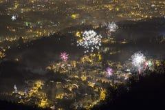 新年萨格勒布 库存照片