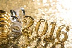 新年装饰与2016年 库存照片