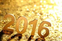新年装饰与2016年 免版税库存图片