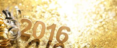 新年装饰与2016年 免版税图库摄影