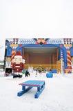 新年装饰在高尔基公园在莫斯科 库存图片