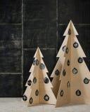 新年装饰由胶合板制成 免版税库存图片