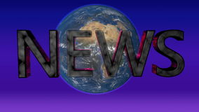 新闻题材 转动新闻报告的地球抽象背景 影视素材