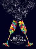 新年2015颜色玻璃贺卡 免版税图库摄影