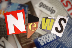 新闻,书面 免版税库存照片