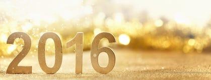 新年2016年 免版税库存图片
