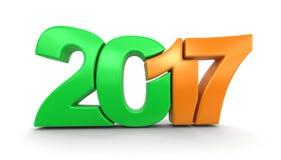 新年2017年 免版税库存照片