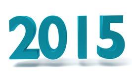 新年2015年- 3D在白色背景回报 库存照片