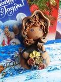 新年` s和圣诞节 父亲弗罗斯特帮手做被接受的邮件 一本日历的最后叶子- 12月31日 图库摄影