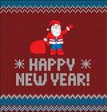 新年` s编织的例证 免版税库存图片