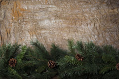 新年` s静物画-在背景的明信片袋装 库存照片