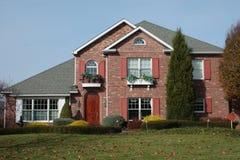 新2块砖的房子 免版税库存图片
