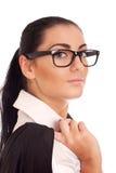 新businesss妇女纵向  库存图片