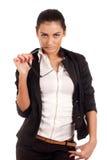 新businesss妇女纵向  免版税库存图片